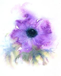 "Saatchi Art Artist Jacki Stokes; Painting, ""Anemone"" #art"