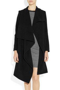 OAK | Asymmetric wool-felt wrap coat | NET-A-PORTER.COM