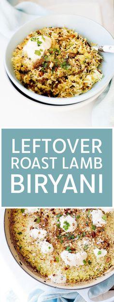 Leftover Lamb Curry, Leftover Lamb Recipes, Leftover Roast Lamb, Leftovers Recipes, Beef Biryani Recipe, Lamb Biryani Recipes, Curry Recipes, Lamb Dinner, Roast Dinner