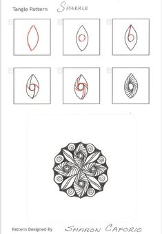 Zentangle Patterns | How to draw SPARKLE « TanglePatterns.com