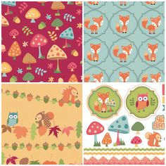 Get crafting with these Autumn Friends free printable papers to download!