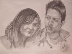 my friend with his girl.. - Sketching by Shreeti Prajapati in Shadows and Light at touchtalent