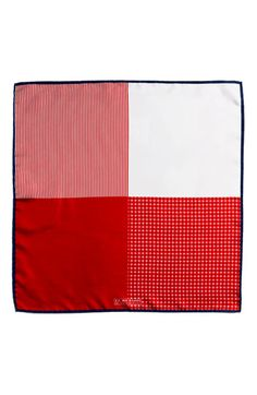 $39, Red Pocket Square: J.Z. Richards Silk Pocket Square Red One Size. Sold by Nordstrom. Click for more info: https://lookastic.com/men/shop_items/202624/redirect