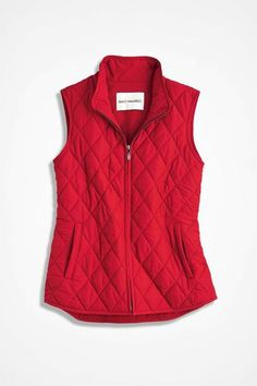 My Style Vest for All Seasons, Fresh Red Puffer Vest Outfit, Red Puffer Vest, Blazer Vest, Red Vest, Vest Outfits, Mom Outfits, Hijab Outfit, Western Outfits, Chaleco Casual