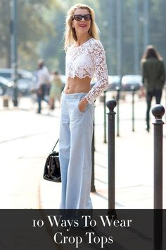 Crop top outfit inspiration- how to wear a crop top the stylish way.