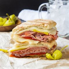 All the goodness from your favorite Subway sandwich stuffed into a gorgeous Spicy Italian Panini.