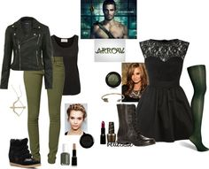 2 Arrow-inspired outfits Source by Marvel Inspired Outfits, Disney Themed Outfits, Movie Inspired Outfits, Disney Inspired Fashion, Tv Show Outfits, Fandom Outfits, Cool Outfits, Marvel Clothes, Casual School Outfits