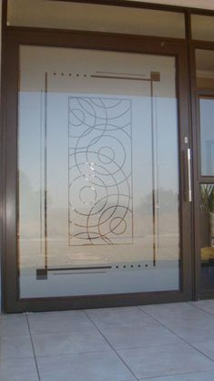 "Frosted Glass | Window Frosting - Window Art - Gallery- reminds me of ""the Doctor""... for my future home !!!!"