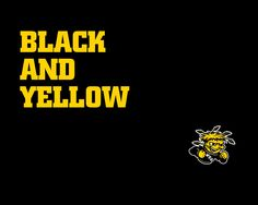 BLACK AND YELLOW WSU SHOCKERS ACCESSORIES #WATCHUS