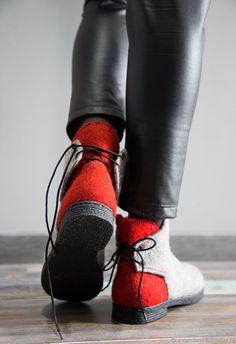Обувь ручной работы. Заказать Ботинки валяные  Жако . Ксения Мельникова. Ярмарка  Мастеров d35e112e11a