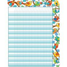 Boho Birds Incentive Chart - Grade 1 - Grade - Decorate to Educate - Teacher Store   Scholar's Choice