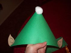 Construction Paper Elf Hat