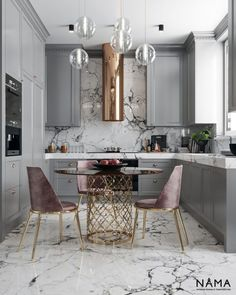 A great look for a small kitchen. Soft a dusty colors. By Nama interior design … A great look for a small kitchen. Soft a dusty colors. By Nama interior design. Home Decor Kitchen, Interior Design Kitchen, New Kitchen, Home Kitchens, Interior Decorating, Kitchen Ideas, Kitchen Modern, Apartment Kitchen, Kitchen White
