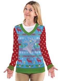 Check Out My Rack Ugly Sweater T-shirt  www.teelieturner.com A perfect way to show your Christmas spirit! #christmassweaters