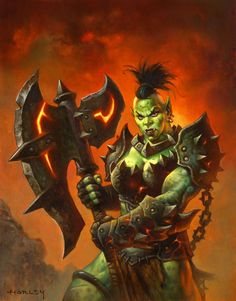 #hearthstone #warcraft #orc #warrior #guerrier