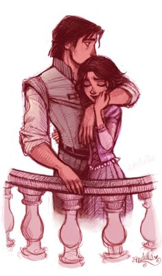 flynn and rapunzel. Probably my favorite Disney couple ever. <3