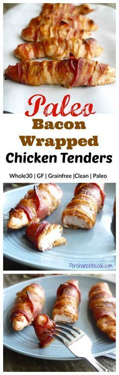 Bacon Wrapped Chicken Tenders (paleo, GF) | Perchance to Cook, www.perchancetocook.com