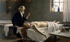 """""""La Autopsia"""" = """"Anatomia do Coração"""" = """"Ela Tinha um Coração"""".  (1890). (by Enrique Simonet)."""