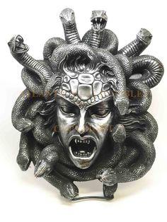 Greek Goddess Gorgon Sisters Medusa Snake Hair Large Wall Plaque Sculpture