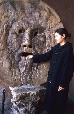 Legend has it that if one tells a lie with one's hand inside La Bocca della Verita, it will be bitten off.