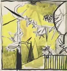 Artwork by Graham Sutherland, Study for 'Thorn Forms, Made of pencil, gouache, ink and wash on paper Gouache, Graham, Pencil, Study, Ink, Paper, Artwork, Painting, Studio