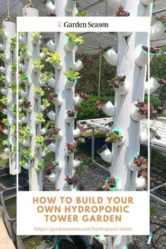 How To Build Your Own Hydroponic Tower Garden | Hydroponic tower gardens are becoming popular, especially among urban gardeners due to the system's efficiency and small gardening spaces.   The system will cost you 500-1,000 dollars, but Garden Season is here to show you how you can make your hydroponic tower garden for way less.