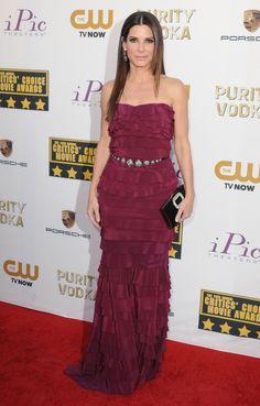 Sandra Bullock Rules the Red Carpet - Sandra Bullock in Lanvin at the Critics' Choice Awards.