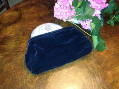 velvet and silk 70s evening clutch