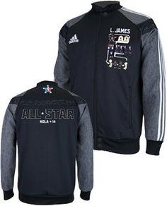 3dc1351ebbda adidas Miami HEAT LeBron James 2014 NBA All Star Jacket