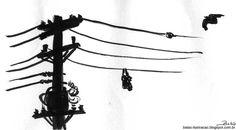 """'Ruas...Poesia bruta / Sentimentos de concreto / Sangue que corre por fios elétricos"""" - Fios Elétricos (Barão Vermelho) - Compositores: Frejat/Clemente"""