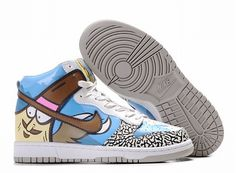 5c8ac9ad48b2 Buy New Zealand Womens Nike Dunk High Top Shoes Blue Brown Cartoon from  Reliable New Zealand Womens Nike Dunk High Top Shoes Blue Brown Cartoon  suppliers.