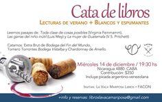 HOY! Cortá la semana. Vení esta noche a la #catadelibros Vinos blancos y espumantes + lecturas ¡Aún quedan cupos!  #Buenmiercoles🍷📚 Cata, White Wines, Night