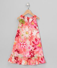 Take a look at this Pink Rosette Ruffle Dress - Toddler & Girls by Me & Ko on #zulily today!