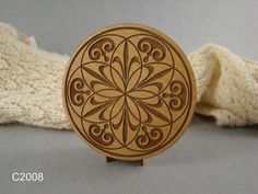 Wood Coasters set of 4 with laser engraved by MyOtherSideGallery, $19.95