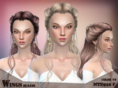 The works from Game of Thrones  Found in TSR Category 'Sims 4 Female Hairstyles' #ts4_hair