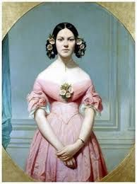 Eugène Emmanuel Amaury-Duval: Portrait of Isaure Chassériau, Niece of the Artist, Daughter of Théodore Chassériau Victorian Women, Victorian Fashion, Vintage Fashion, Historical Costume, Historical Clothing, Rose Bertin, Renaissance, Boho Chic, Victorian Paintings