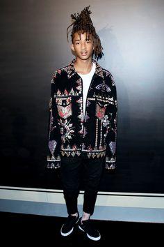 Spotted: Jaden Smith In Gucci Jacket - Gucci Menswear - Ideas of Gucci Menswear - Spotted: Jaden Smith In Gucci Jacket Urban Fashion, High Fashion, Mens Fashion, Fashion Outfits, Street Fashion, Hip Hop Look, Afro Punk, Jaden Smith Fashion, Der Gentleman