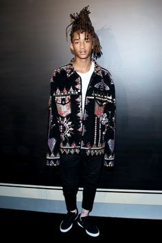 JADEN REMEMBERED TO PICK UP HIS JACKET. GOOD LAD