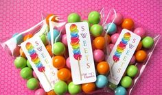 Bubble gum party favors are adorable and cost effective. #birthday #party #favors