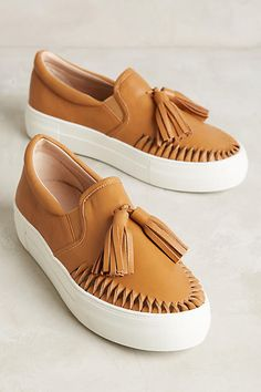 Tasseled Leather Sneakers - anthropologie.com