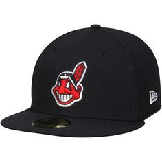 d76b0d8d0b Cleveland Indians New Era Authentic Collection On Field 59FIFTY Fitted Hat  - Navy