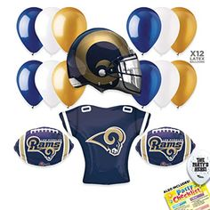 2eec646d212 Los Angeles Rams Super Bowl 53 Football NFL Sports Team LARGE Party  Supplies Decorations Balloon Kit - 17pc · Football Party SuppliesLa ...