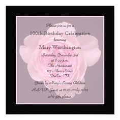21 Best 100th Birthday Invitation Templates Images Birthday
