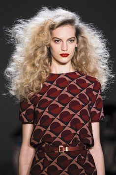 The over-sized curl inspired by Jodie Foster in the 70s movie,Taxi Driver. As seen at Marc Jacobs.