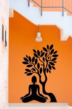 Simple Wall Paintings for Living Room Lovely Details About Wall Stickers Vinyl Decal Buddha Buddhism Tree wall painting ideas living rooms Mural Painting, Buddha Wall Art, Buddha Art Painting, Mural Art, Wall Art Designs, Wall Drawing, Painting Art Projects, Mural Wallpaper, Simple Wall Paintings