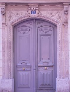 Love this pretty lavender door spotted in Paris.