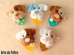 CACHORRITOS | fieltro : FELTIES | Pinterest