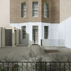This proposal, a restoration, conversion and extension of a characterful listed Georgian town house in Marylebone, is characterised by its careful reconfiguration of the plan, discreet structural alterations and its sensitive and creative. Brick Architecture, Architecture Collage, Architecture Graphics, Architecture Visualization, Architecture Drawings, Architecture Details, Interior Architecture, Architectural Section, Modern Buildings