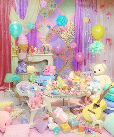 rainbow, balloons, & kawaii