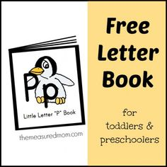 Free letter book with nursery rhymes and songs for kids - great to use alongside other letter P activities
